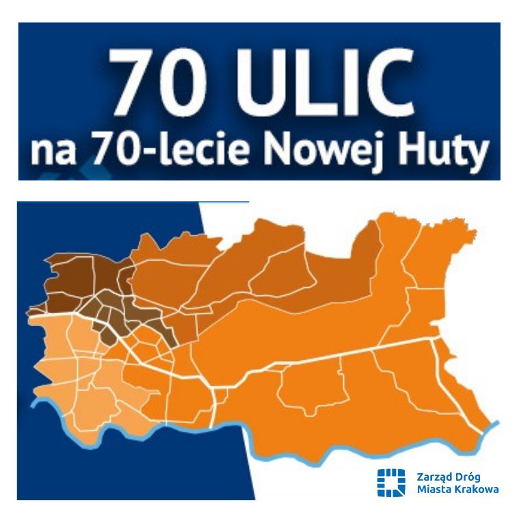 70 ulic na 70-lecie Nowej Huty
