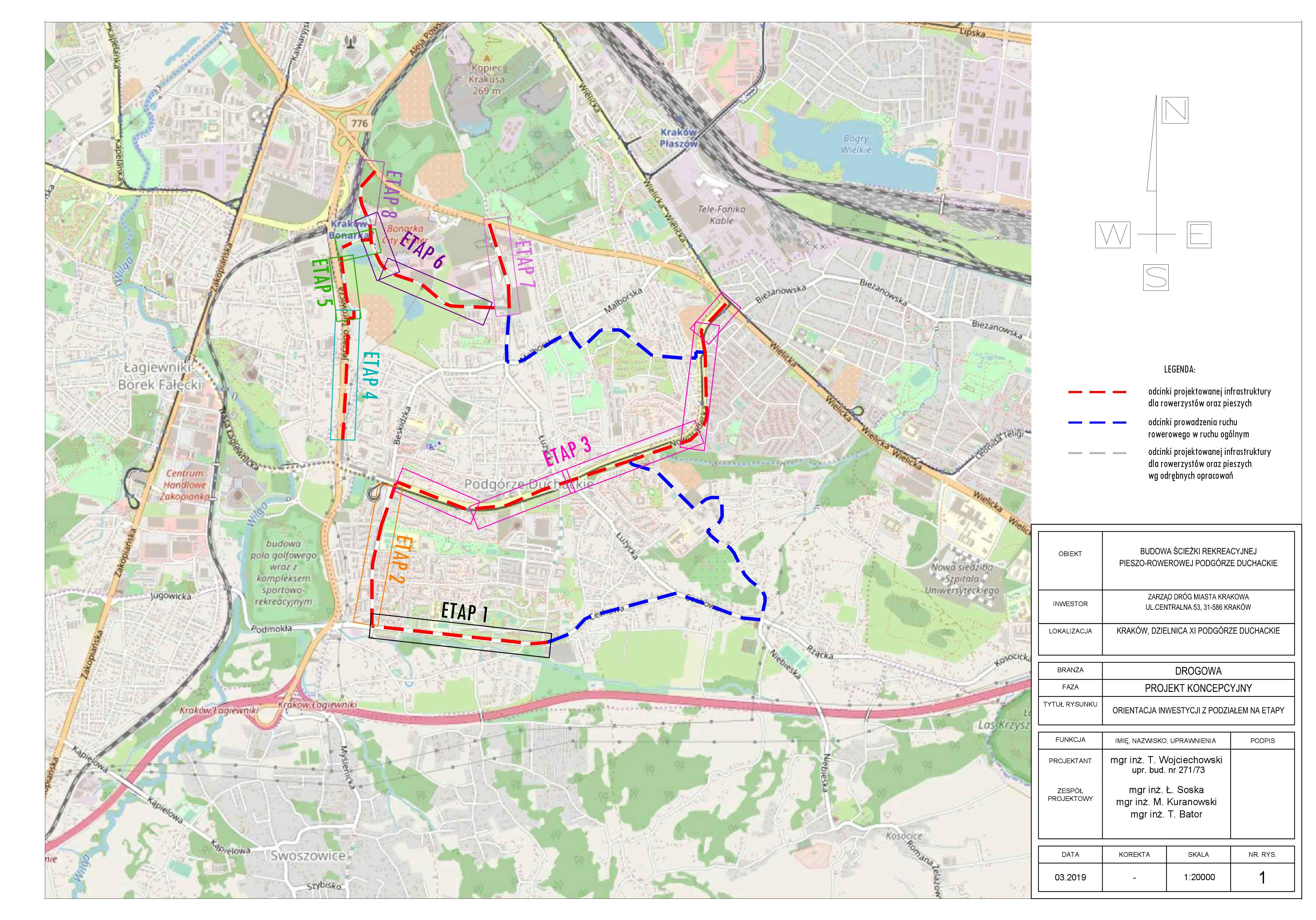 Budowa ścieżki rekreacyjnej pieszo – rowerowej Podgórze Duchackie