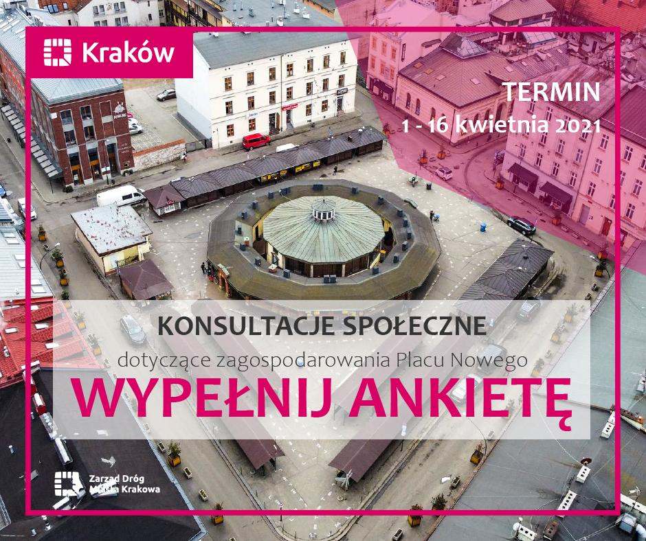 Ankieta w ramach konsultacji społecznych zagospodarowania Placu Nowego w Krakowie