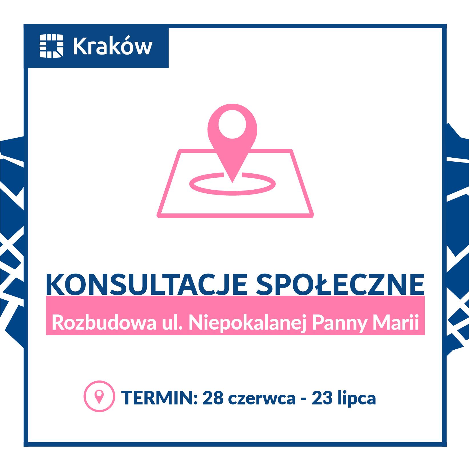 """Rozpoczynamy konsultacje """"Rozbudowy ulicy Niepokalanej Panny Marii"""" w Krakowie"""